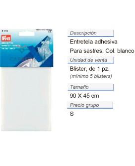 Entretela adhesiva para sastres 90x45cm blanco CONT: 5 TAR d