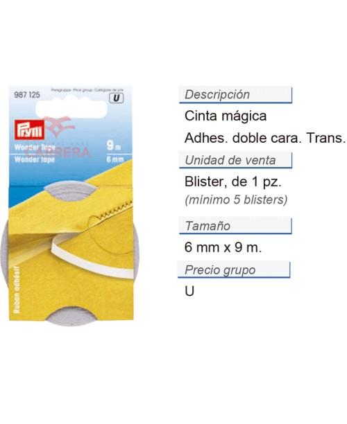 Cinta magica 6 mm CONT: 5 TAR de 9 m