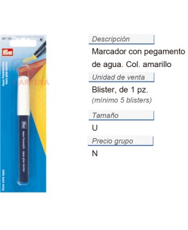 Marcador con cola água CONT: 5 TAR de 1 pz