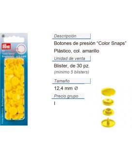 Botones pres. ColorSnaps 12,4 mm amarillo claro CONT: 5 TAR