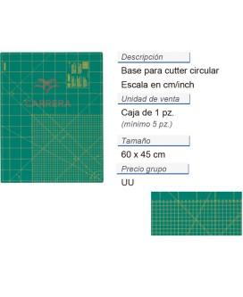 Base p. cuter circ. cm/inch 60 x 45 cm CONT: 5 PZ de 1 pz
