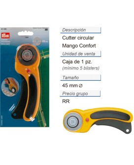 Cutter circular mango confort CONT: 5 TAR de 1 pz