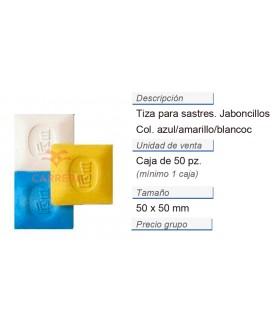 Tiza para sastres jaboncillos azul/amarillo/blanco CONT: 1 C