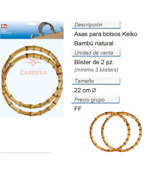 Asas para bolsos Keiko natural CONT: 3 TAR de 2 pz
