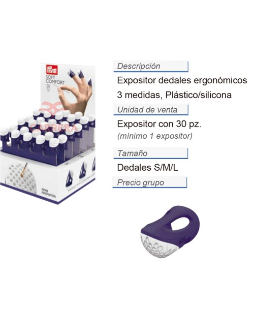 DEDALES SILICONA EXPOSITOR 30UDS
