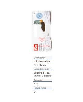 Alpargatas - Hilo decorativo blanco (nuevo diseño) CONT: 3 T
