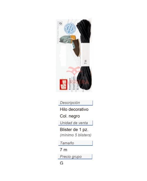 Alpargatas - Hilo decorativo negro (nuevo diseño) CONT: 3 TA