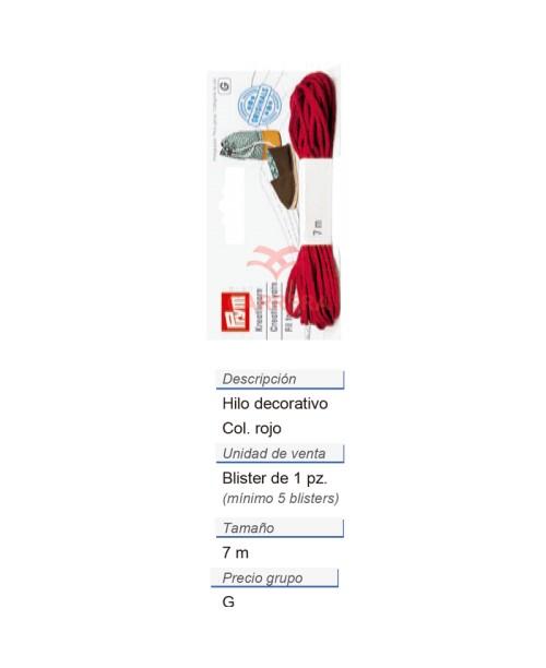 Alpargatas - Hilo decorativo rojo (nuevo diseño) CONT: 3 TAR